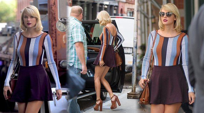 Taylor Swift – Leggy Candids in Tribeca