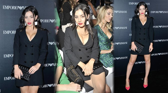 Charli XCX – Emporio Armani Fashion Show in Paris