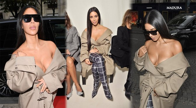 "Kim Kardashian – ""Balenciaga"" Fashion Show in Paris"