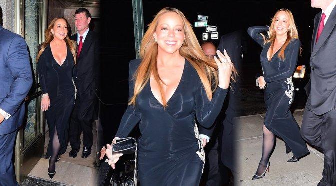 Mariah Carey – Cleavage Candids in New York