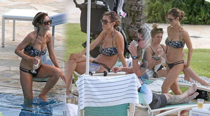 Audrina Patridge - Bikini Candids in Hawaii
