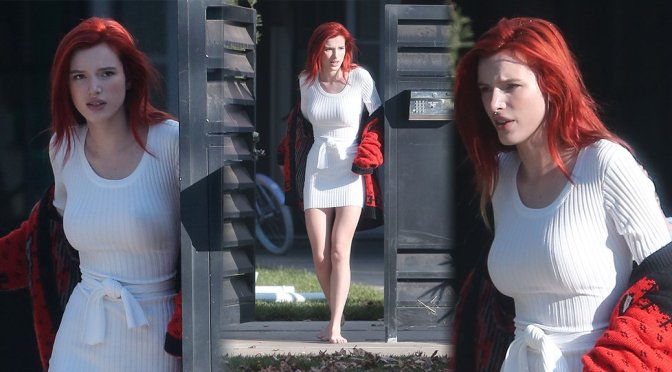 Bella Thorne - Braless Candids in Los Angeles