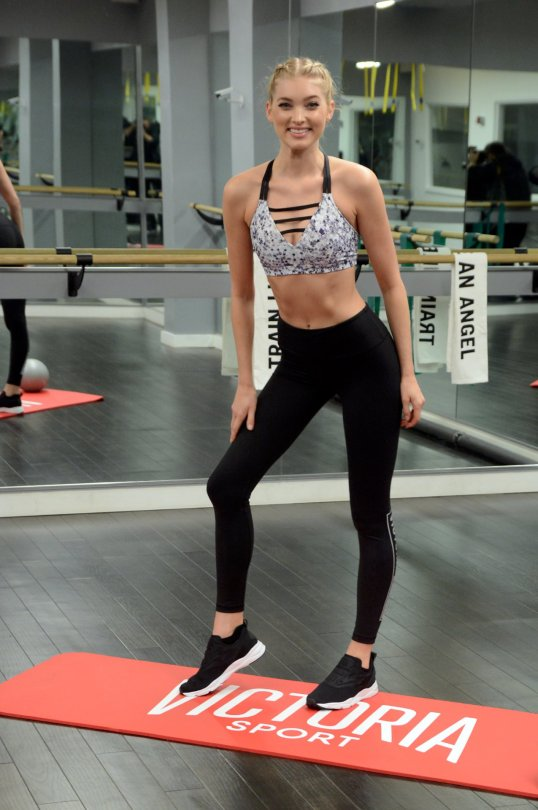 "Elsa Hosk - ""Train Like An Angel"" Event in New York"