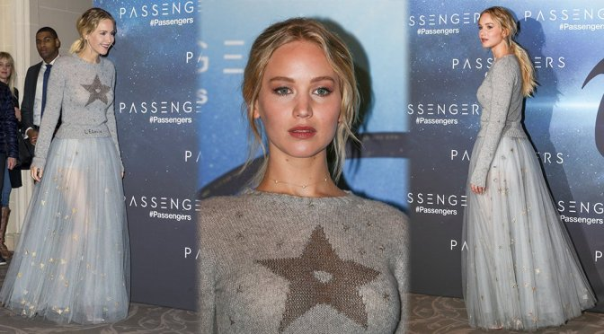 "Jennifer Lawrence – ""Passengers"" Photocall in Paris"