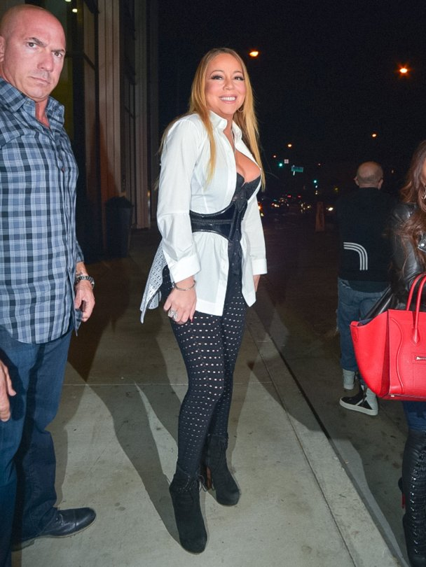 Mariah Carey - Cleavage Candids in Hollywood