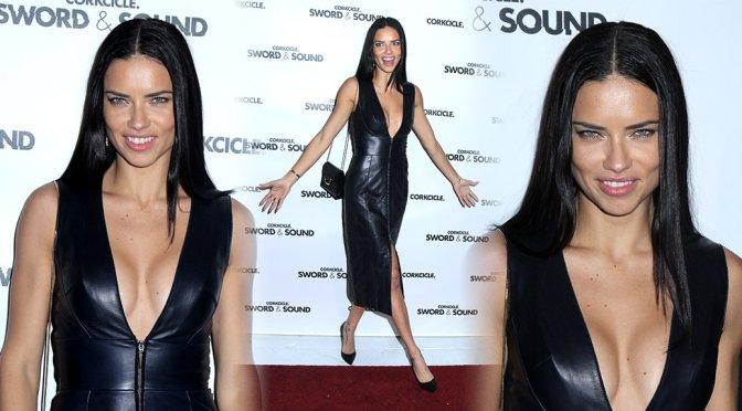 Adriana Lima - Sword & Sound Event in New York