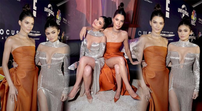 Kendall & Kylie Jenner @ Golden Globe Afterparty in Beverly Hills