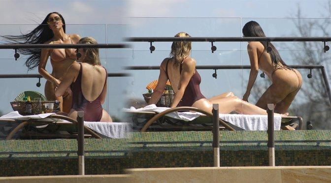 Kim Kardashian – Bikini Candids in Costa Rica