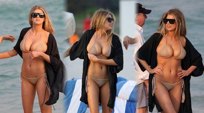 Charlotte McKinney – Bikini Candids in Miami