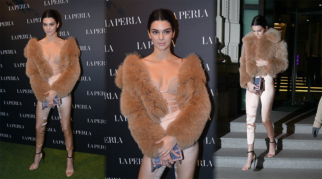 Kendall Jenner - La Perla Store Opening in Milan