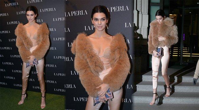 Kendall Jenner – La Perla Store Opening in Milan