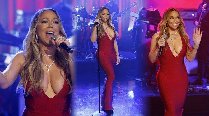 Mariah Carey Performs Live on Jimmy Kimmel Live