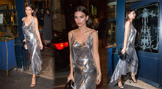 Emily Ratajkowski – V Magazine Party in Paris
