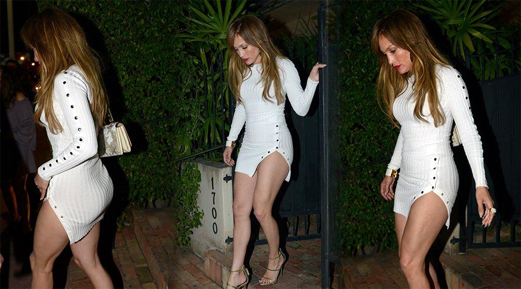 Jennifer Lopez - Leggy Candids in Miami