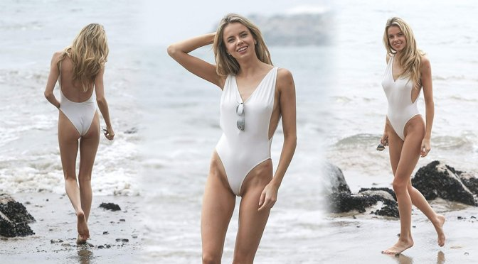Louisa Warwick – Swimsuit Photoshoot in Malibu