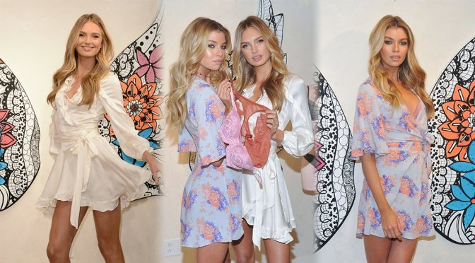 "Romee Strijd & Stella Maxwell – ""Dream Angels"" Collection Launch in New York"