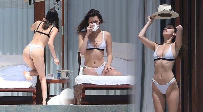 Bella Hadid – Bikini Candids in Cabo San Lucas