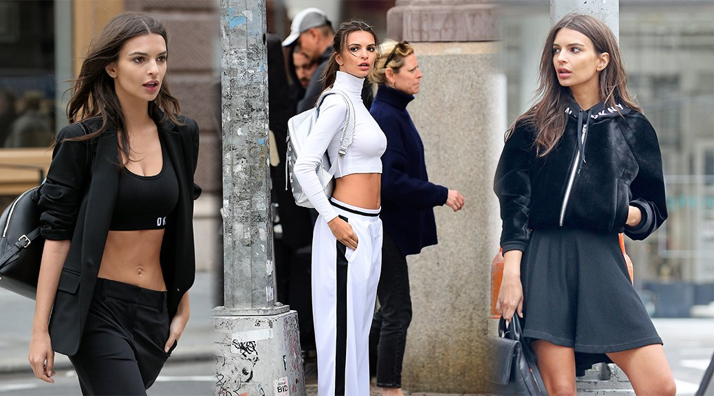"Emily Ratajkowski - ""DKNY"" Photoshoot Candids in New York"