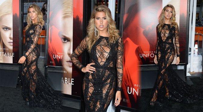 Kara Del Toro sexy in black dress at Unforgettable Film Premiere in Los Angeles