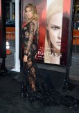 Kara Del Toro sexy and curvy in black sexy dress