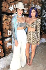 Kendall Jenner with her sister Kylie at Winter Bumbleland Coachella Party