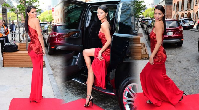 Adriana Lima – Photoshoot Candids in Los Angeles