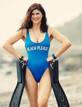 Alexandra Daddario sexy swimsuit for Women's Health magazine June 2017