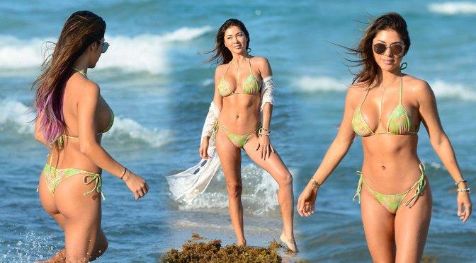 Arianny Celeste – Bikini Candids in Miami