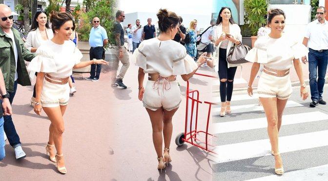 Eva Longoria – Leggy Candids in Cannes