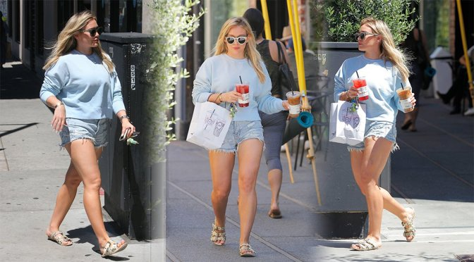 Hilary Duff – Leggy Candids in Beverly Hills