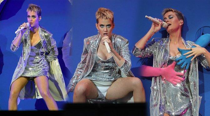 Katy Perry Flashing her knickers, Radio 1 Big Weekend in Hull UK