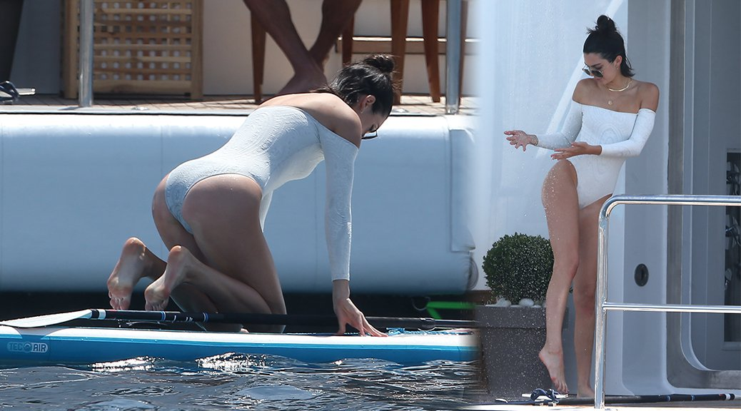 Kendall Jenner - Swimsuit Candids in Cannes