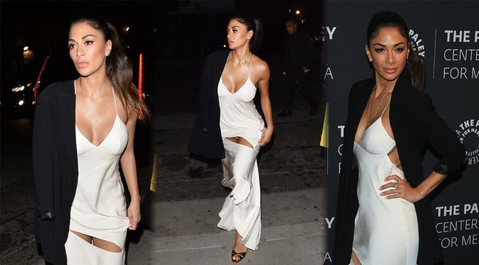 Nicole Scherzinger showing of her cleavage and panties at Dirty Dancing PaleyLive LA Spring Event in LA