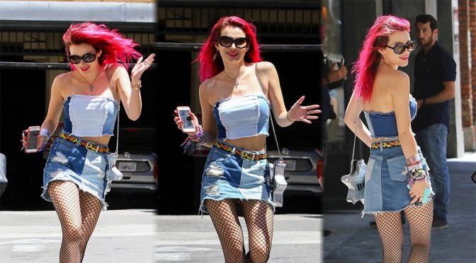 Bella Thorne – Leggy Candids in Los Angeles