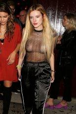 Bella Thorne shows pierced nipples in Hollywood