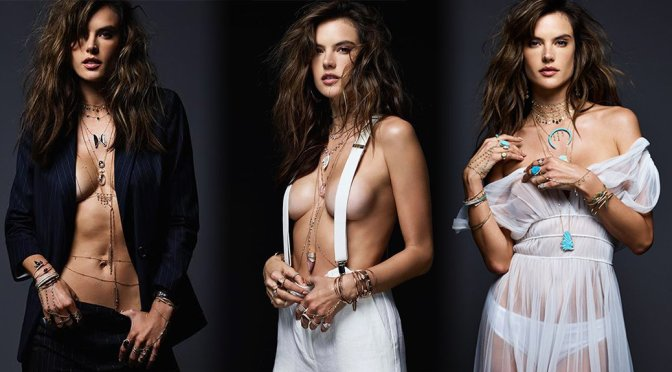 Alessandra Ambrosio – Jacquie Aiche Jewelry Photoshoot (Summer 17)
