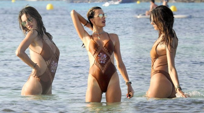 Alessandra Ambrosio – Swimsuit Candids in Formentera