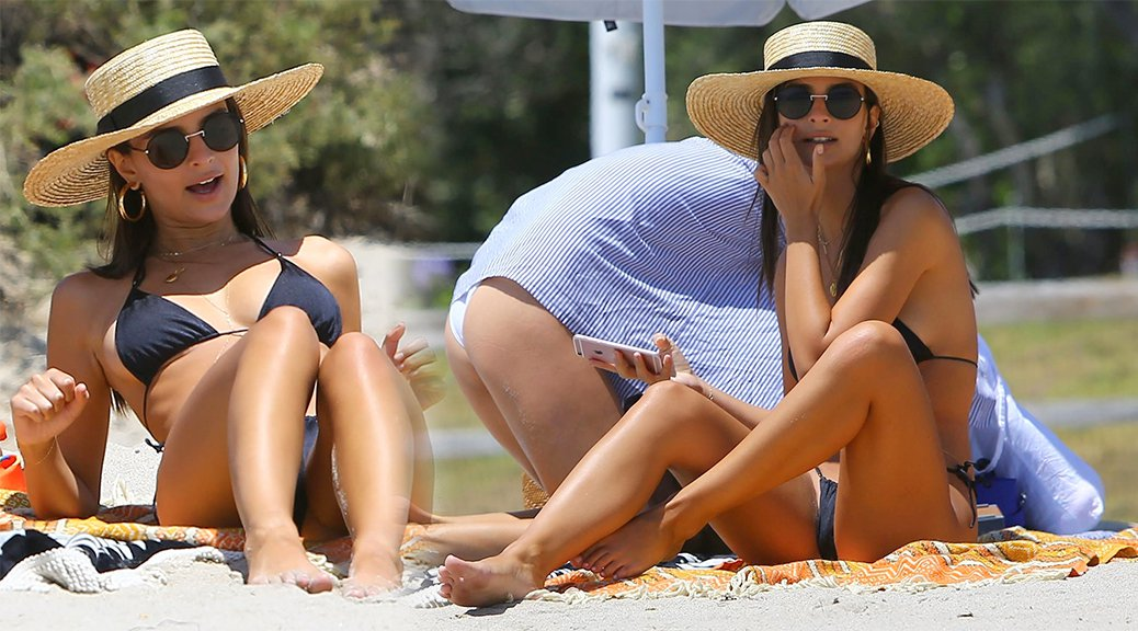 Emily Ratajkowski - Bikini Candids in Malibu