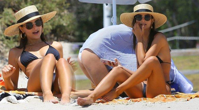 Emily Ratajkowski – Bikini Candids in Malibu