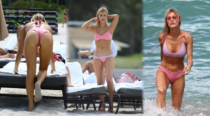 Joy Corrigan – Bikini Candids in Miami