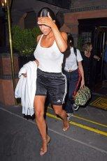 Kim Kardashian Braless