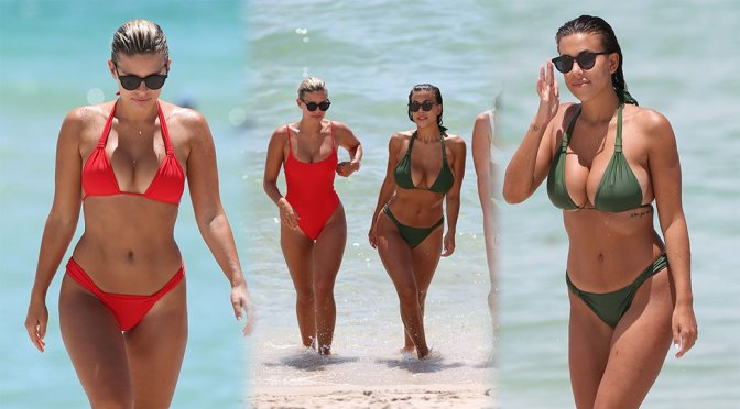 Natasha Oakley & Devin Brugman – Bikini Candids in Miami