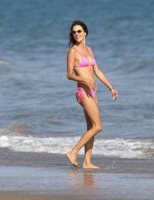 Alessandra Ambrosio Pink Bikini