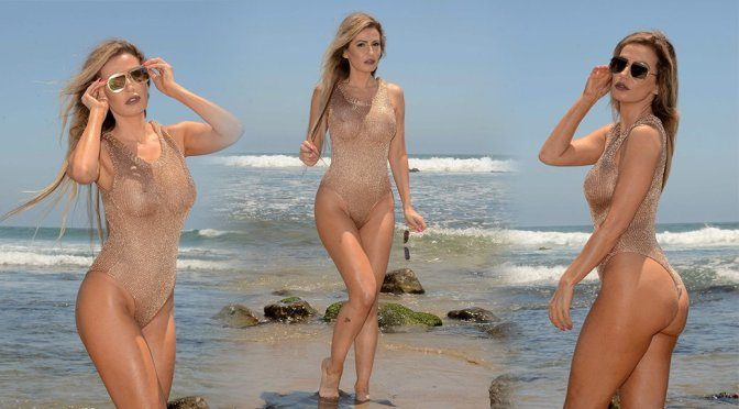 Ana Braga – Swimsuit Photoshoot in Malibu Beach