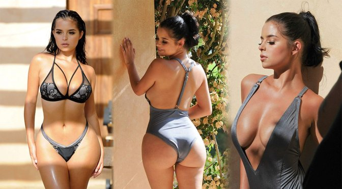 Demi Rose – Bikini & Swimsuit Photoshoot Candids in Ibiza