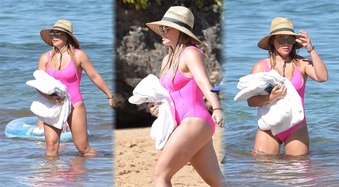 Hilary Duff – Swimsuit Candids in Hawaii