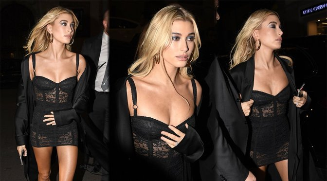 Hailey Baldwin – Dolce & Gabbana After Party in Milan