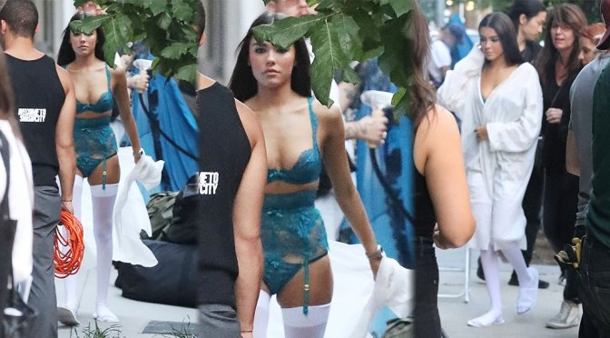 Madison Beer – Lingerie Photoshoot Candids in New York