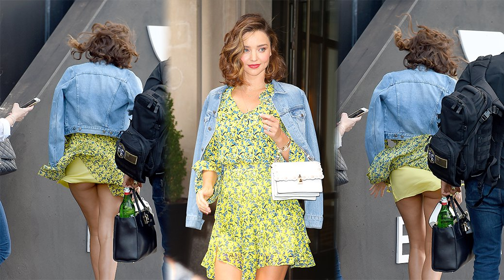 Miranda Kerr - Upskirt Candids in New York