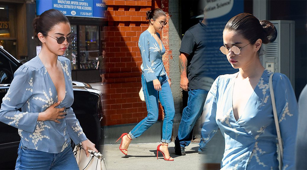 Selena Gomez - Braless Candids in New York